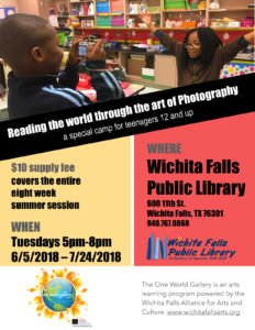Photography Camp at Wichita Falls Public Library @ Wichita Falls Public Library | Wichita Falls | Texas | United States