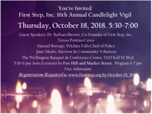 First Step, Inc 16th Annual Candlelight Vigil @ Wellington on the Lake | Wichita Falls | Texas | United States