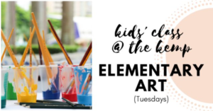 Elementary Art at The Kemp (ages 5-9) @ The Kemp | Wichita Falls | Texas | United States