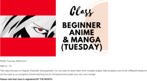 Beginner Anime and Manga at the Kemp (ages 9-14) @ The Kemp | Houston | Texas | United States