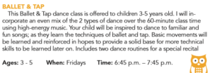 Ballet & Tap (ages 3-5) @ W.F. Recreation Center | Wichita Falls | Texas | United States