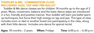 Toddler & Me: Combination Dance (ages 18 mo - 2yr) @ W.F. Recreation Center | Wichita Falls | Texas | United States