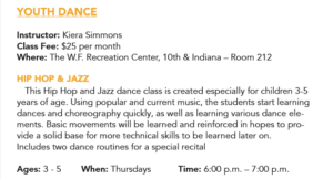 Youth Dance (ages 3-5) @ W.F. Recreation Center  | Wichita Falls | Texas | United States