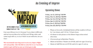 An Evening of Improv @ Backdoor Theatre Dinner Stage