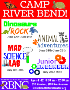 Camp River Bend (Animal Adventures) @ Riverbend Nature Center
