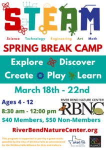 STEAM Spring Break Camp @ River Bend Nature Center
