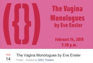 Vagina Monologues @ Fain Fine Arts Center Theatre