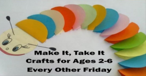Crafts for Toddlers at the Library! @ Wichita Falls Public Library