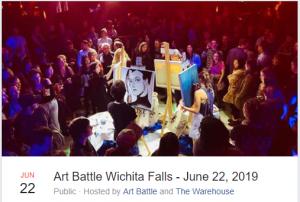 Art Battle Wichita Falls - June 22, 2019 @ The Warehouse