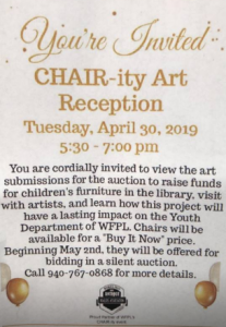 Chair-ity Auction Event @ Wichita Falls Public Library