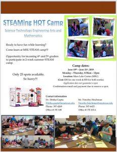 STEAMing Hot Camp at MSU @ Sikes Lake Center (MSU)
