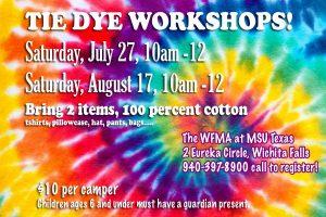 Tie Dye Workshop at Wichita Falls Museum of Art @ Wichita Falls Museum of Art