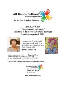 Adult Art Class @ All Hands Cultural Center