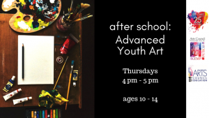 Afterschool Classes: Advanced Youth Art (ages 10-14) @ Kemp Center for the Arts