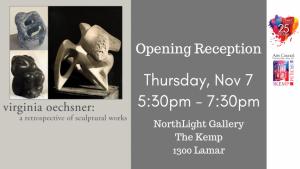 Opening Reception, Virginia Oechsner: A Retrospective @ The Kemp (Northlight Gallery)