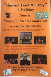 Magic for Meals, Holliday @ First Baptist Church, Holliday