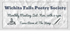 Monthly Meeting: Wichita Falls Poetry Society @ The Kemp Center for the Arts