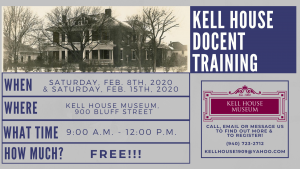 Kell House Docent Training @ The Kell House Museum