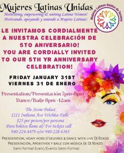 5th Anniversary Celebration of Mujeres Latinas Unidas @ Stone Palace