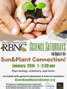 Science Saturday: Sun/Plant Connection @ Riverbend Nature Center