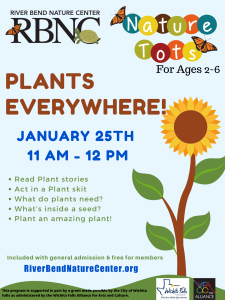 Nature Tot's: Plants Everywhere! @ Riverbend Nature Center