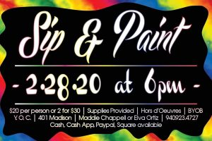 Sip and Paint @ Y.O.C.