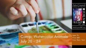 Camp: Water Color Animals (ages 10+) @ The Kemp