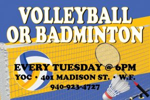 Volleyball or Badminton at the YOC @ YOC