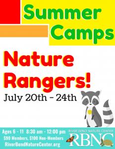 RBNC- Nature Ranger Camp (ages 6-11) @ River Bend Nature Center