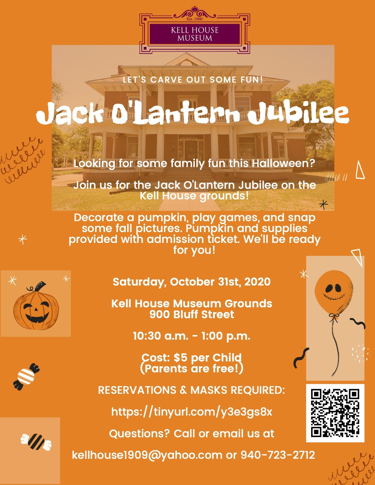 Jack O'Lantern Jubilee at the Kell House @ Kell House Museum