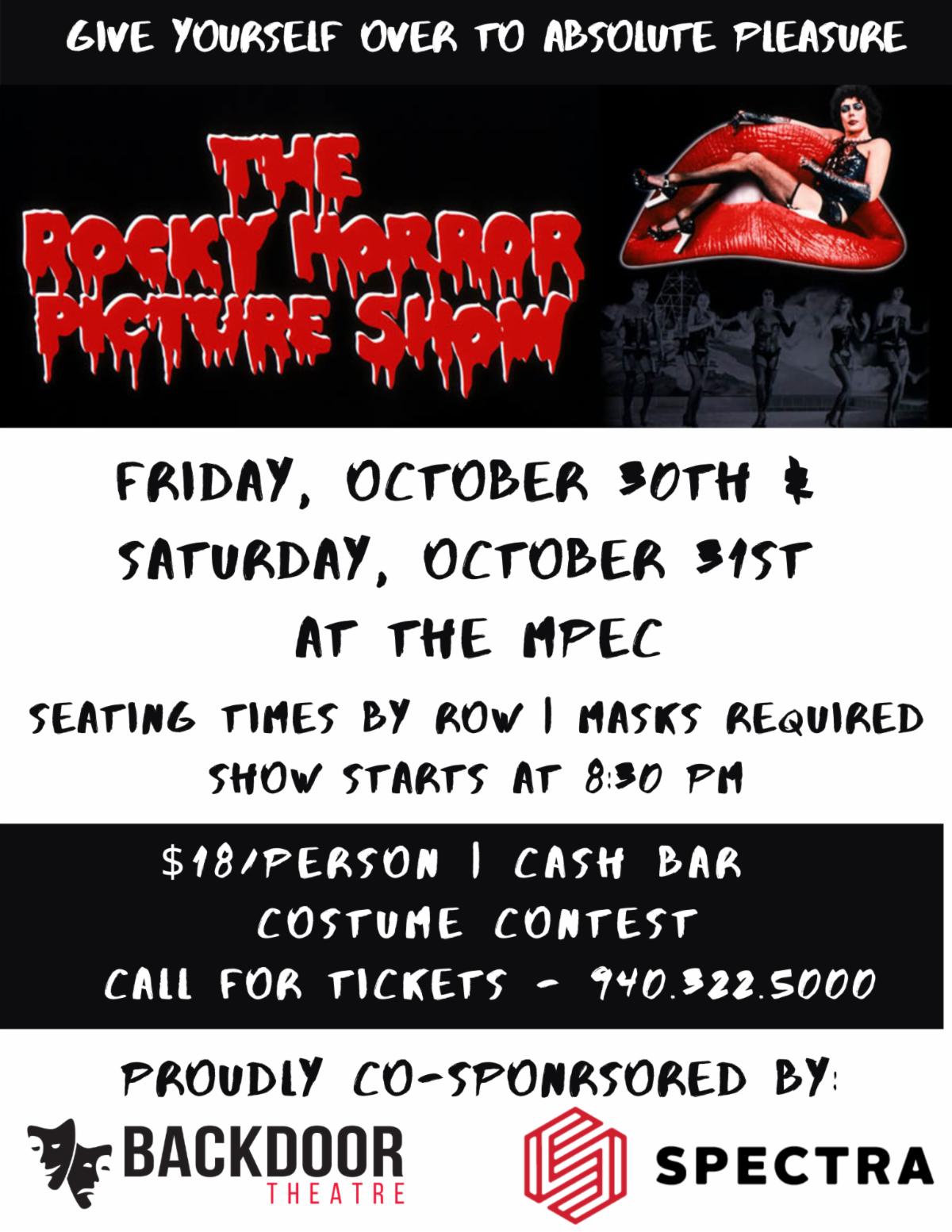 Backdoor Theatre Presents: Rocky Horror Picture Show @ MPEC - Ray Clymer Exhibit Hall - Seminar Room