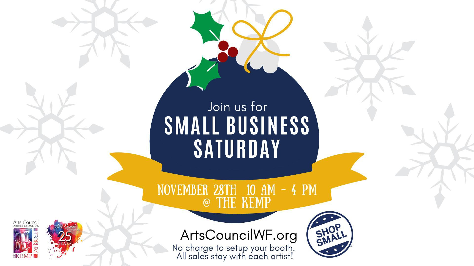 Small Business Saturday at The Kemp @ Kemp Center for the Arts