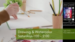 Kids Art Class: Drawing & Watercolor @ The Kemp Center for the Arts