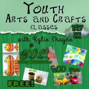 Youth Arts and Crafts Classes FREE @ Youth Opportunities Center